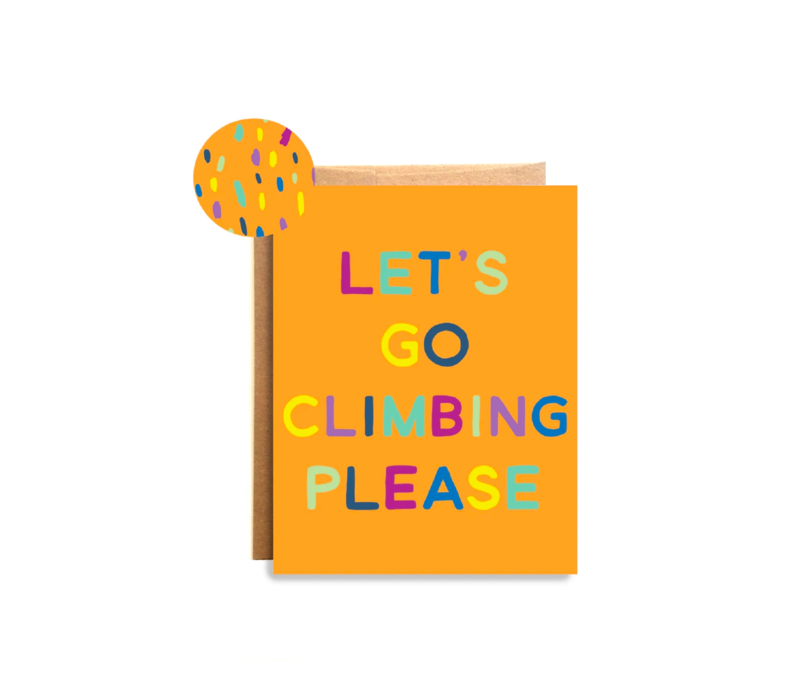 Compass Paper Co. Climbing Please Greeting Card