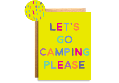 Compass Paper Co. Compass Paper Co. Camping Please Greeting Card