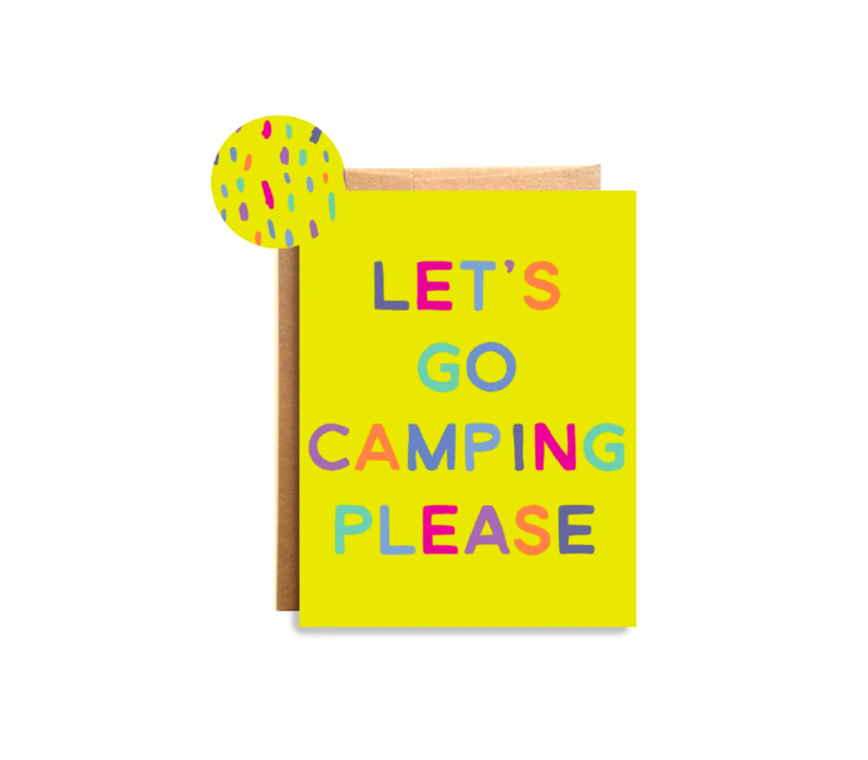 Compass Paper Co. Camping Please Greeting Card