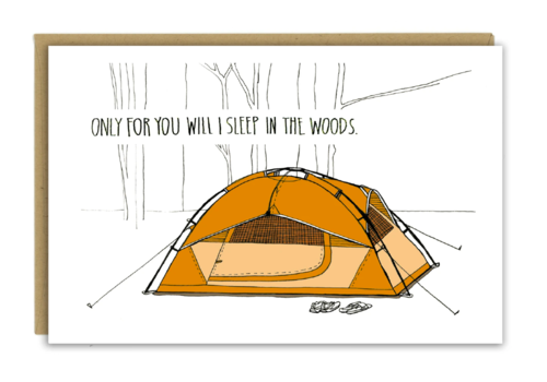Sloe Gin Fizz Tent Camping Love Greeting Card