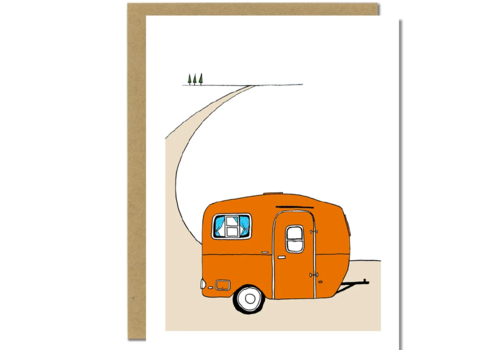 Sloe Gin Fizz Orange Scamp Camper Greeting Card