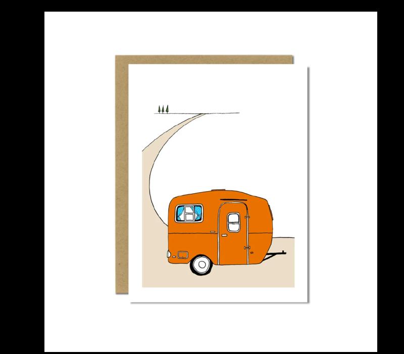 Sloe Gin Fizz Orange Scamp Camper Greeting Card
