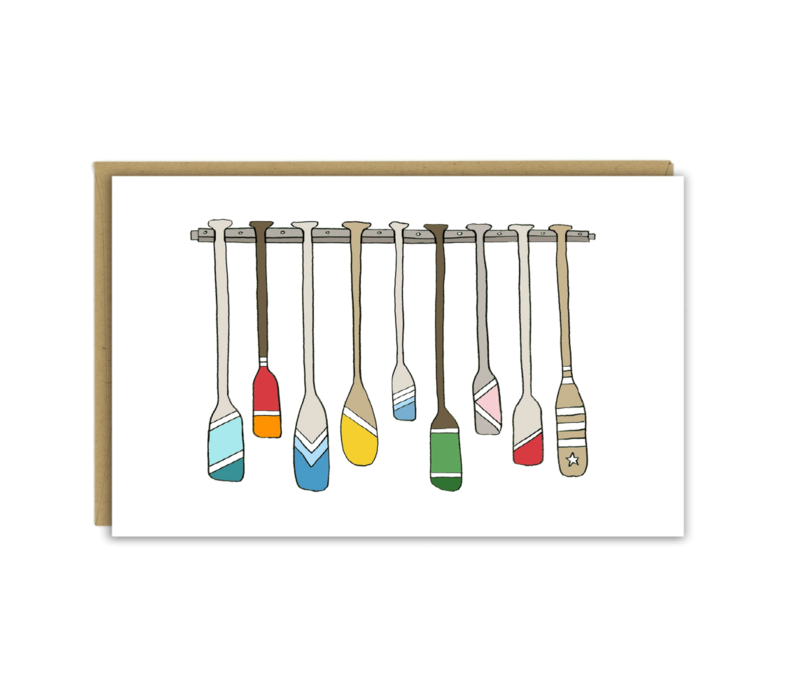 Sloe Gin Fizz Oars and Paddles Greeting Card