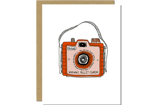 Sloe Gin Fizz Brownie Bullet Camera Greeting Card