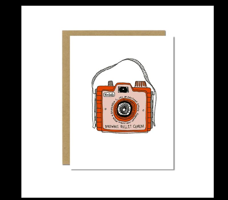 Sloe Gin Fizz Brownie Bullet Camera Greeting Card