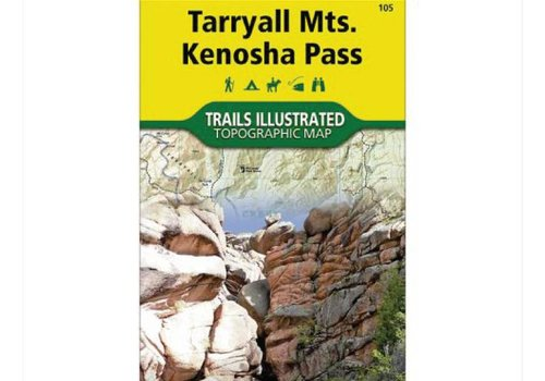 National Geographic National Geographic 105: Tarryall Mountains | Kenosha Pass Map