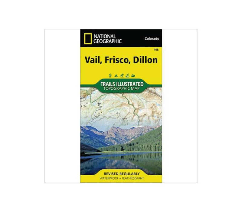 National Geographic 108: Vail | Frisco | Dillon Map