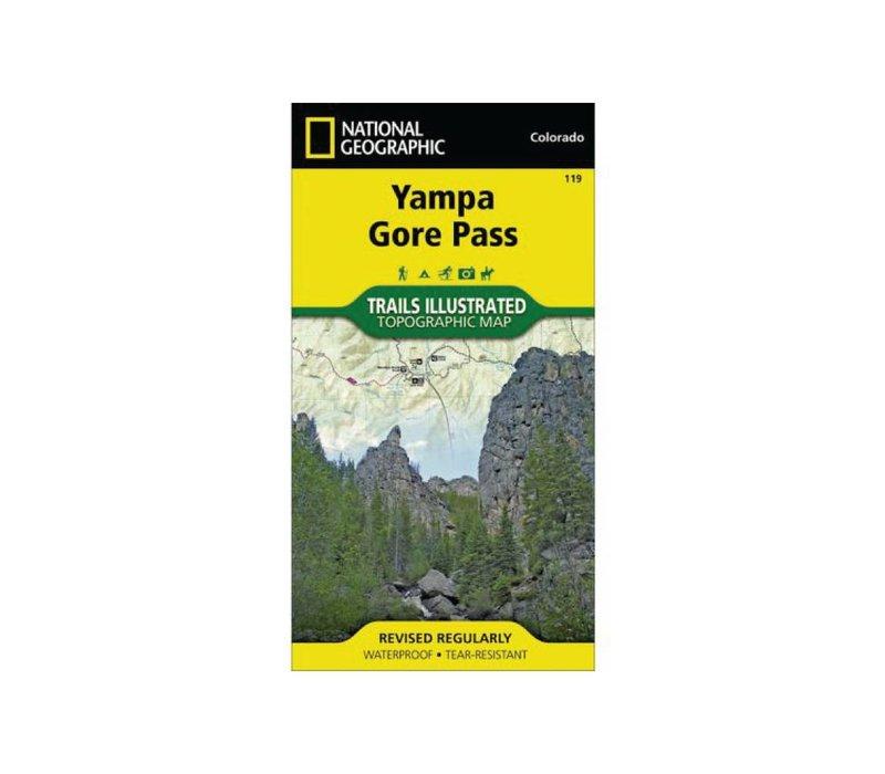 National Geographic 119: Yampa   Gore Pass Map