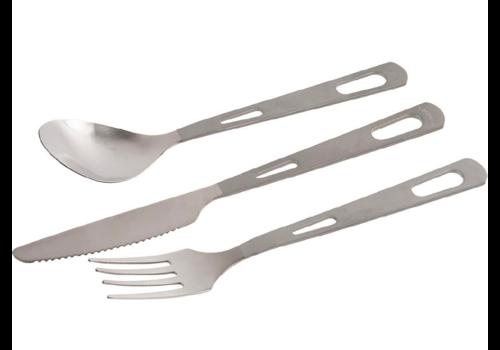Olicamp Olicamp Titanium 3 Piece Cutlery Set
