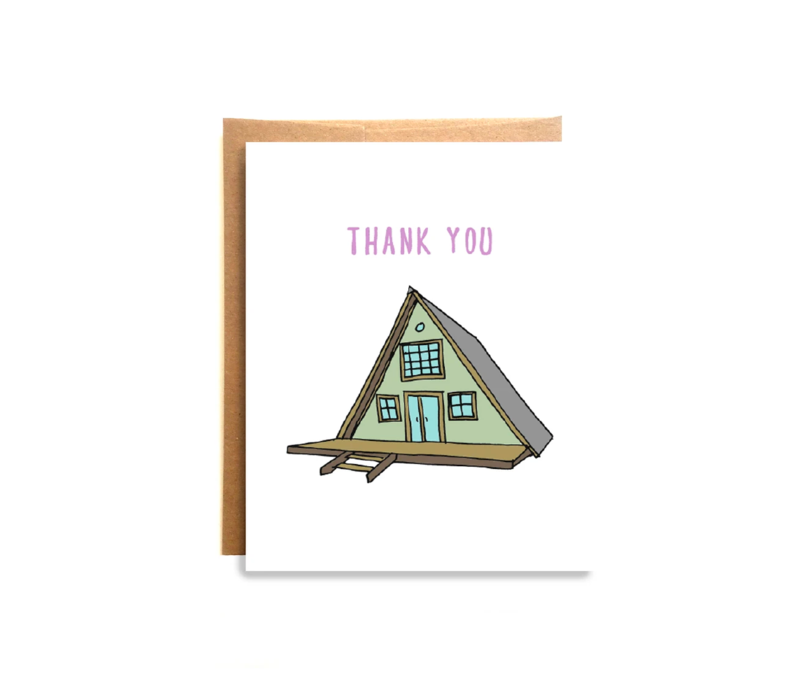 Compass Paper Co. Cabin Thank You Card