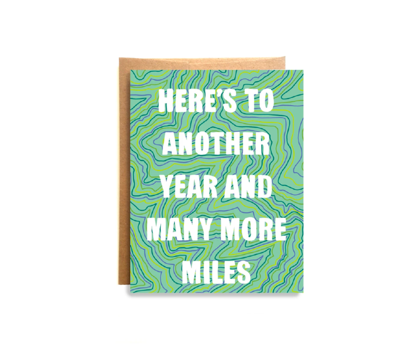 Compass Paper Co. Many More Miles Card