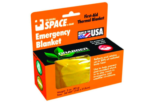 Grabber Emergency Blanket Gold