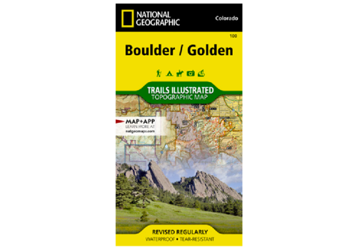 National Geographic National Geographic 100: Boulder / Golden Map