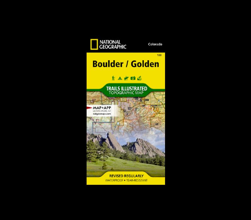 National Geographic 100: Boulder / Golden Map