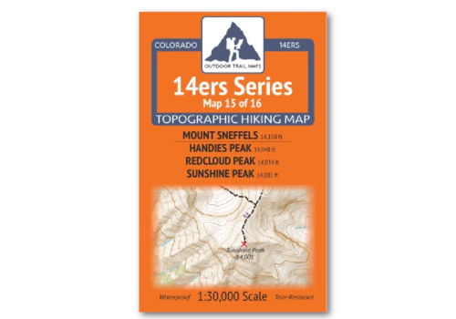 Outdoor Trail Maps 14er Series : Sneffels | Handies | Redcloud | Sunshine Map