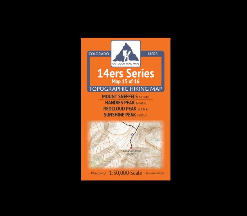 Outdoor Trail Maps 14er Series : Sneffels | Handies | Redcloud | Sunshine Map