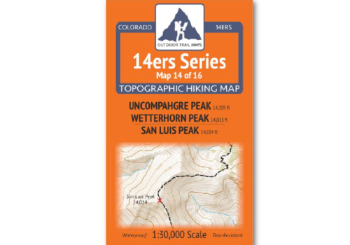 Outdoor Trail Maps 14er Series : Uncompahgre | Wetterhorn | San Luis Map