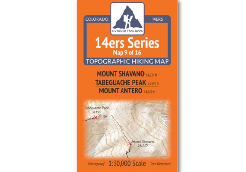 Outdoor Trail Maps 14er Series : Shavano | Tabeguache | Antero Map