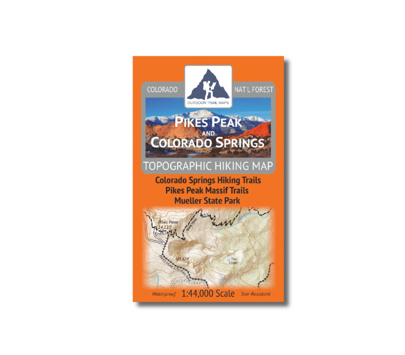Outdoor Trail Maps Pikes Peak Colorado Springs Map