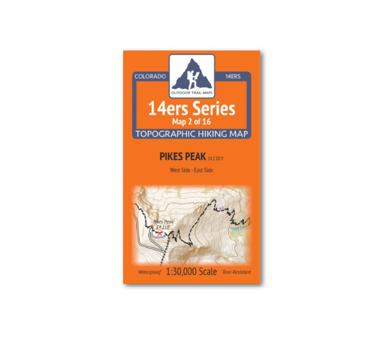 Outdoor Trail Maps 14er Series : Pikes Peak Map