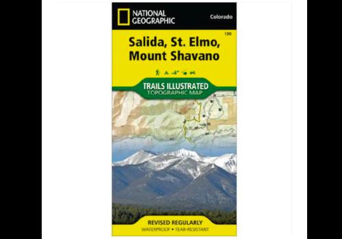 National Geographic National Geographic 130: Salida | St. Elmo | Mount Shavano Map