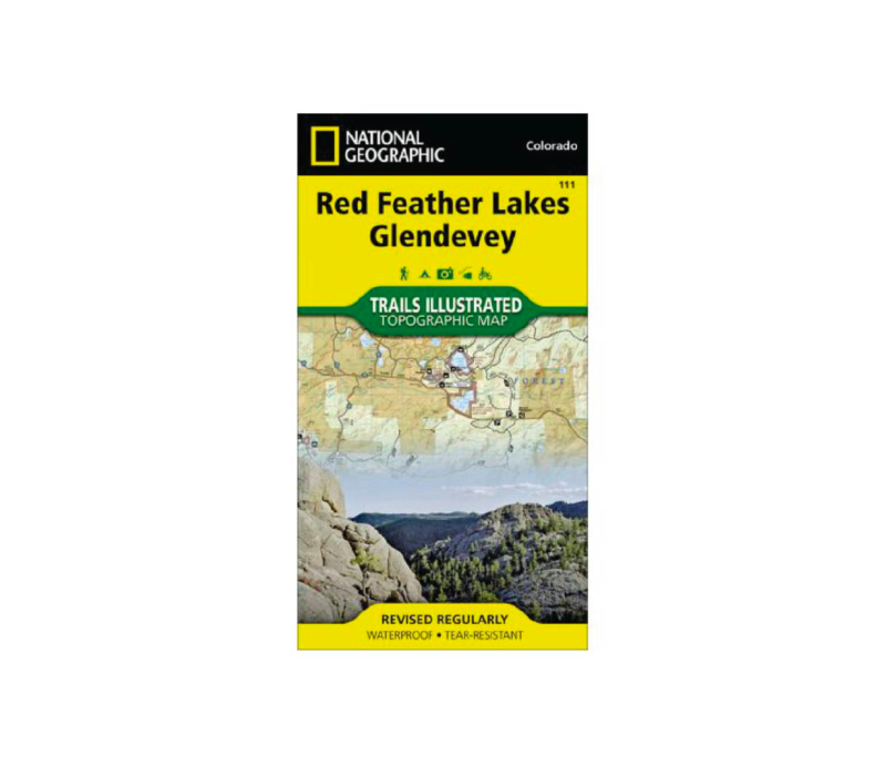 National Geographic 111:  Red Feather Lakes   Glendevey Map
