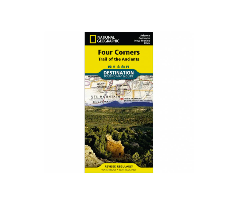 National Geographic Four Corners Map