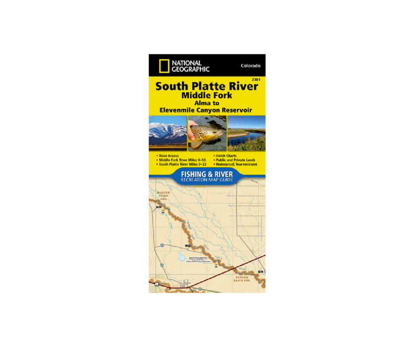 National Geographic 2301: South Platte River Middle Fork Alma to Elevenmile Canyon Reservoir