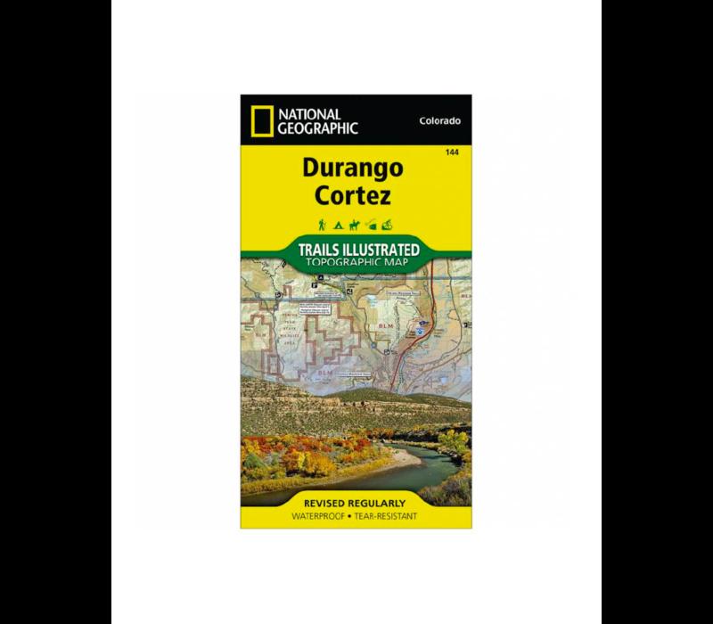 National Geographic 144: Durango | Cortez Map