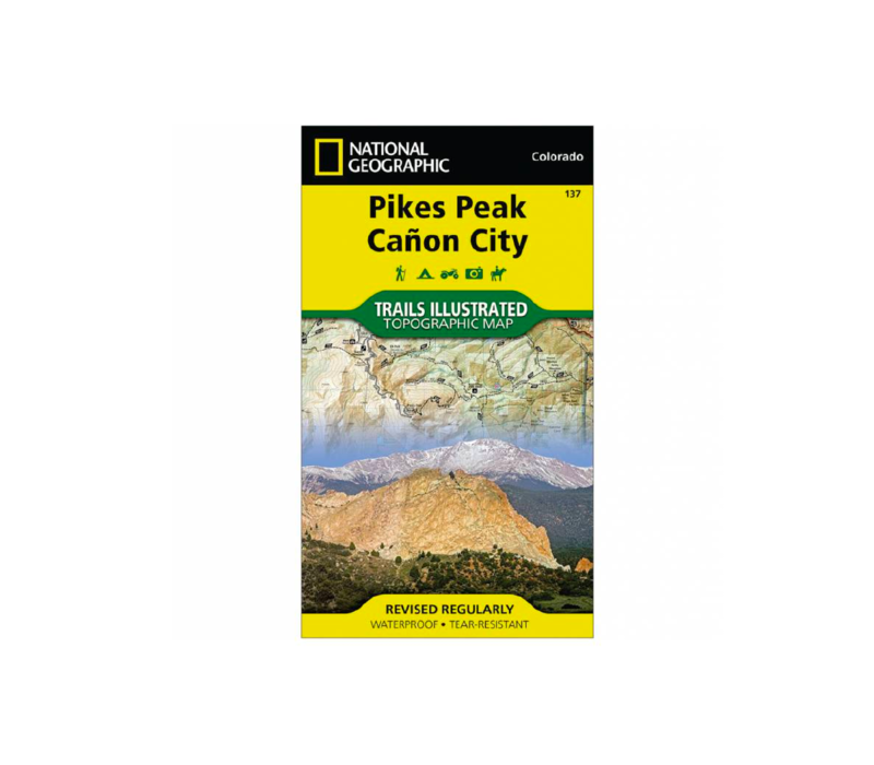National Geographic 137: Pikes Peak   Canon City Map