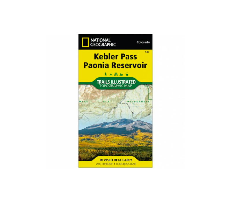 National Geographic 133: Kebler Pass | Paoni Reservoir Map