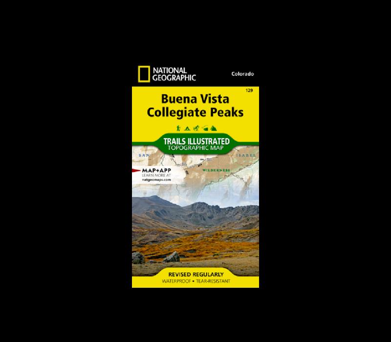 National Geographic 129: Buena Vista | Collegiate Peaks Map