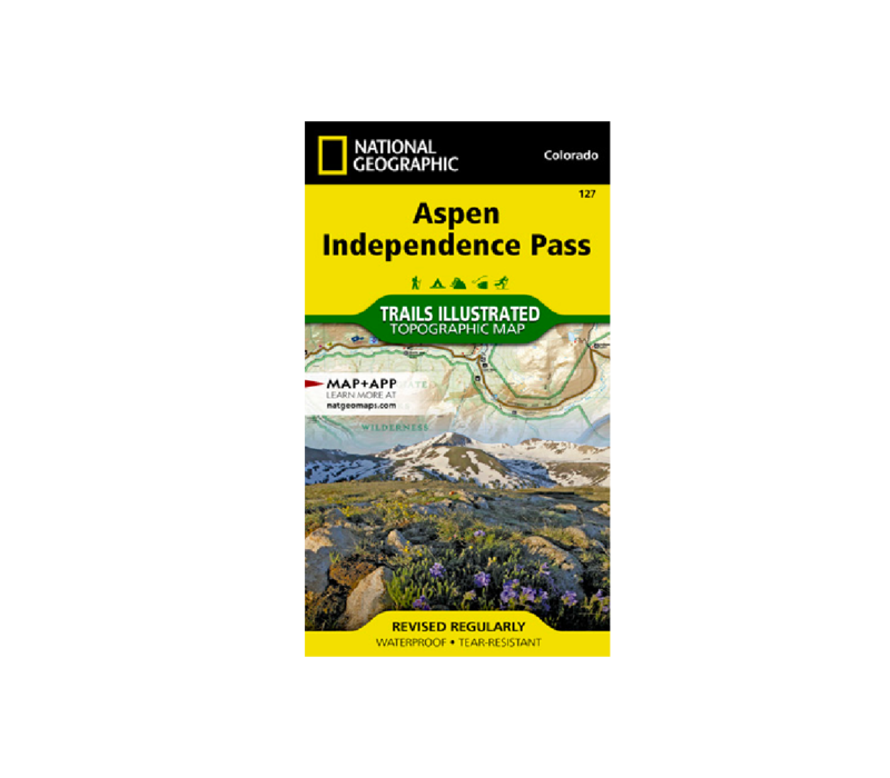 National Geographic 127: Aspen   Independence Pass Map