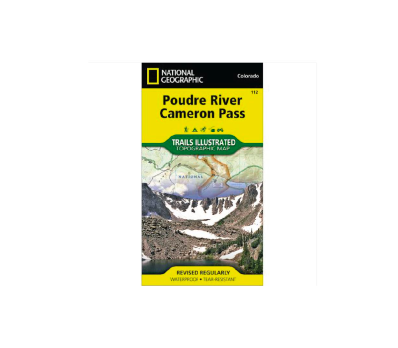 National Geographic 112: Poudre River | Cameron Pass Map