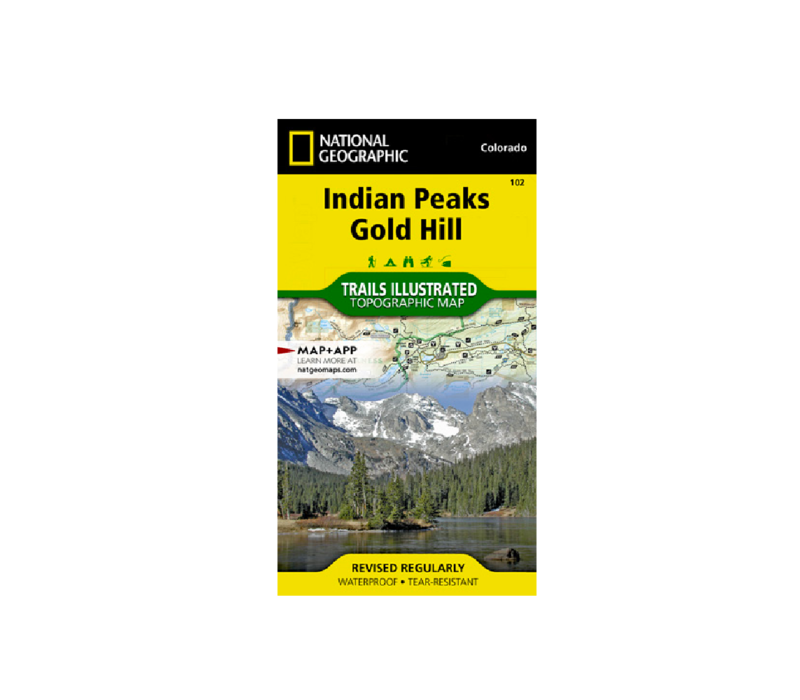National Geographic 102: Indian Peaks | Gold Hill Map