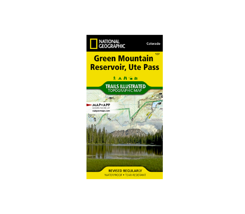 National Geographic 107: Green Mountain Reservoir | Ute Pass Map