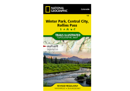 National Geographic National Geographic 103: Winter Park | Central City | Rollins Pass Map