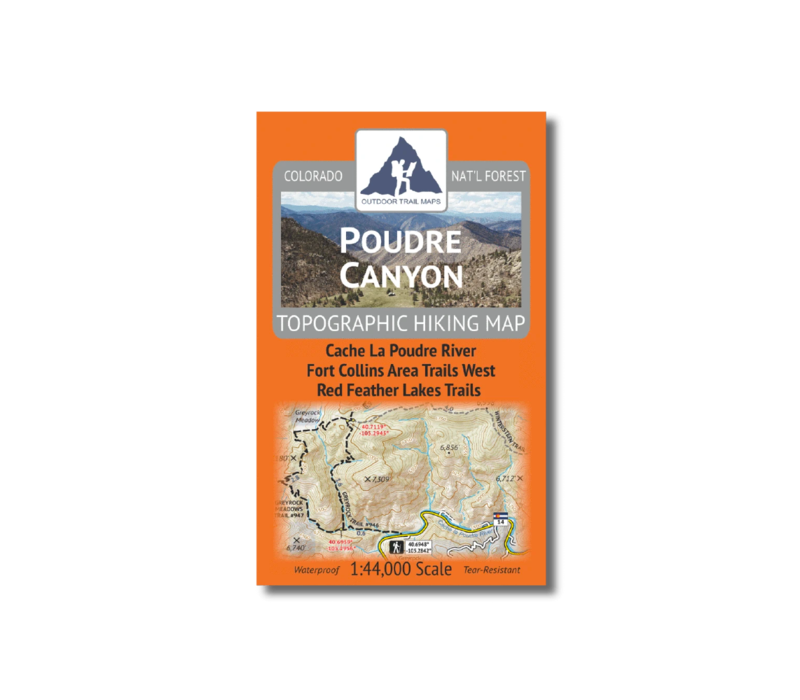 Outdoor Trail Maps Poudre Canyon Map