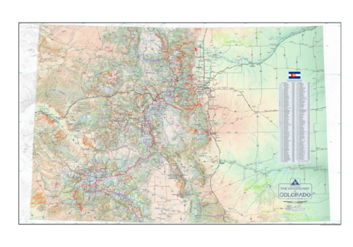 Outdoor Trail Maps Hiker's Map of Colorado