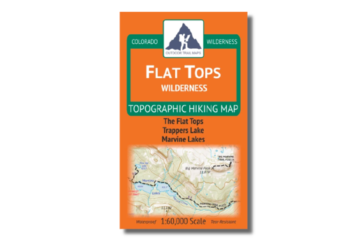 Outdoor Trail Maps Flat Tops Wilderness Map