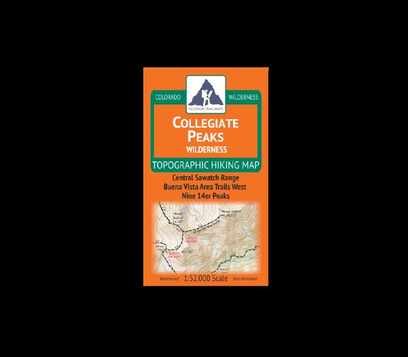 Outdoor Trail Maps Collegiate Peaks Wilderness Map