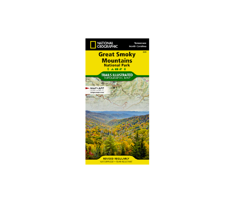 National Geographic 229: Great Smoky National Park Map