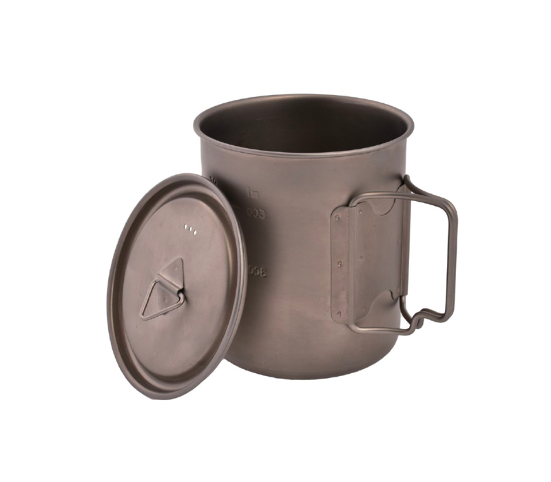 Olicamp Titanium Space Saver Mug w' Lid 750ml