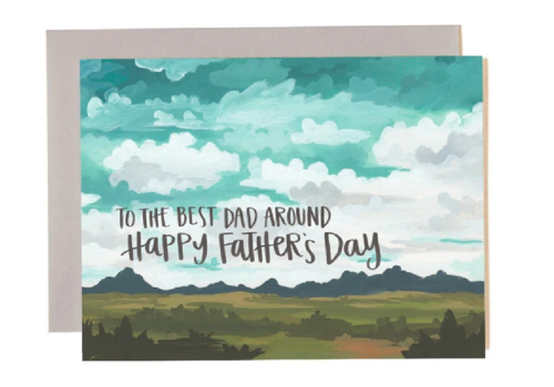 1canoe2 1canoe2 Father's Day Landscape Greeting Card