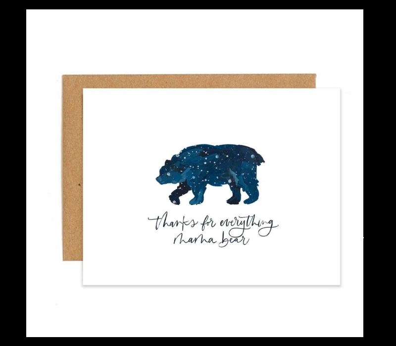 1canoe2 Mama Bear Greeting Card