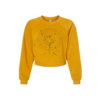 Akinz Fly Me To The Moon Cropped Sweatshirt