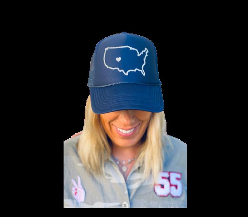 Arnie + Ollie Colorado Love Navy Trucker Hat
