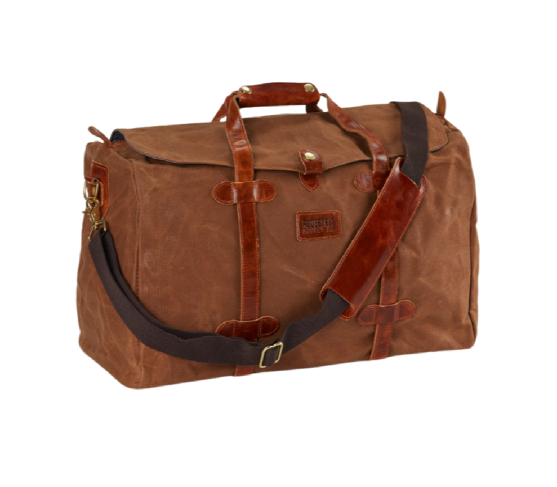 Roosevelt Supply Co. Rugged Waxed Canvas Duffle Tan