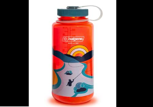 Nalgene Nalgene Retro Print 32 oz Wide Mouth Water Bottle