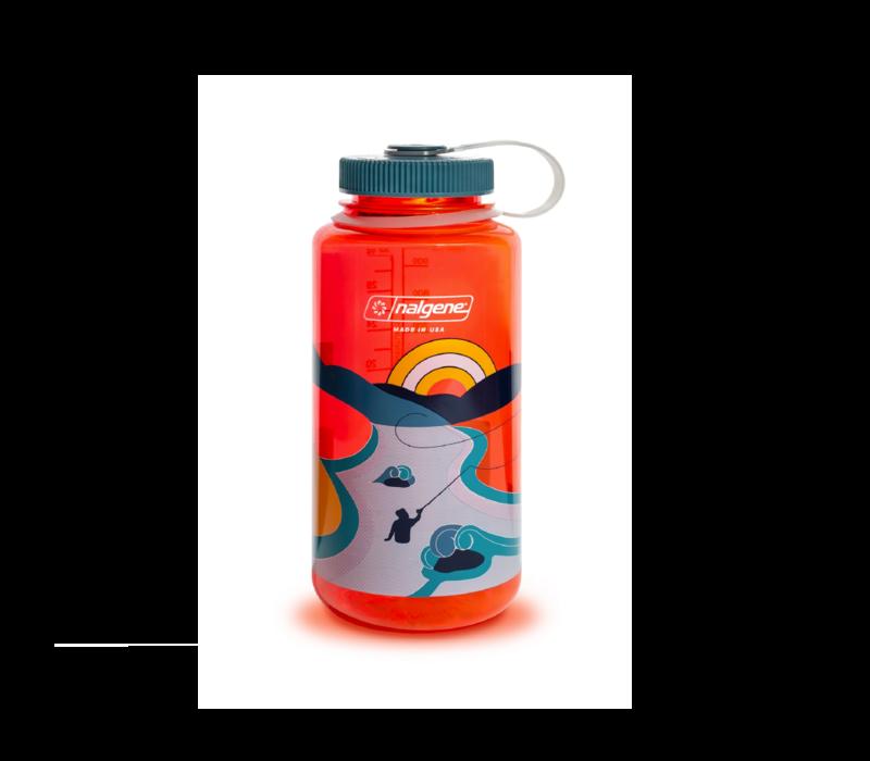 Nalgene Retro Print 32 oz Wide Mouth Water Bottle